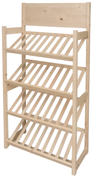 One of our most popular Point of purchase displays, a slatted shelf unit for bakery.