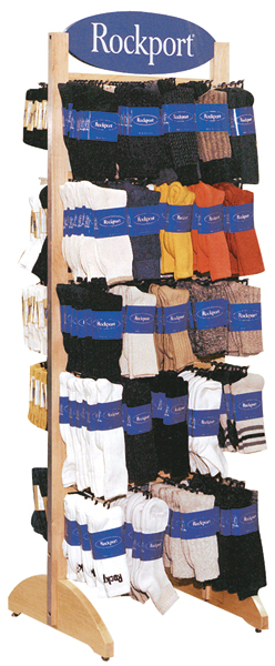 Rockport Sock Display Point of Purchase Rack.
