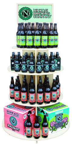 Beverage Point of Purchase Tree. Great for Beer, Spirits and Soda. Made from sustainable western poplar.